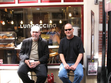 Gregory Taylor and Jeff Kaiser at Lungoccino...phenomenal....!