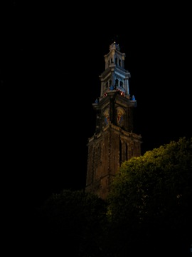 Westerkerk on a late night walk....