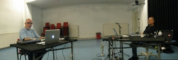 Panorama of us in the studio...