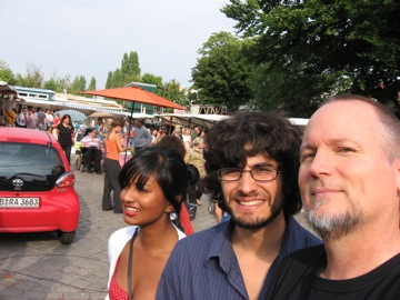 Ayesha, Phil and me...Mauerpark