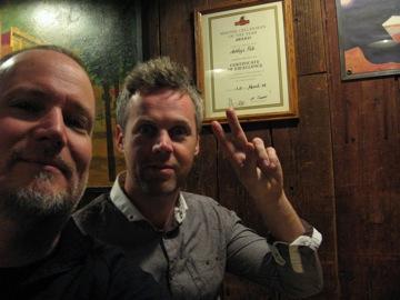 With drummer Steve Davis