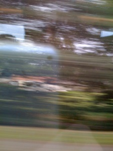 What all my photos on the train ride looked like...