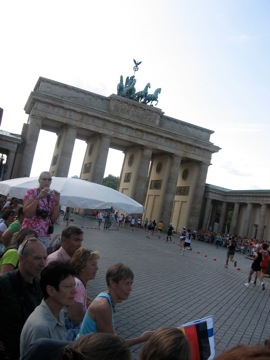 The finsish line: Brandenburg Gate