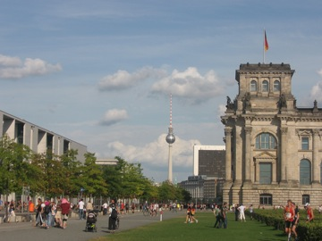 Reichstag with TV tower in background