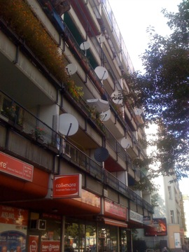 satellite dishes everywhere...