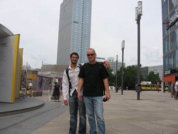 With Phil, Alexanderplatz with Park Inn in the background.