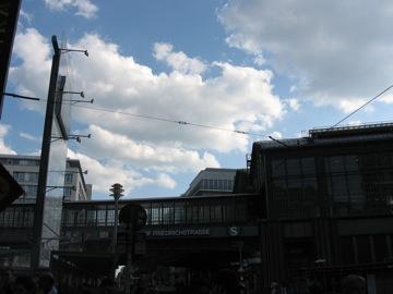 Beautiful sky over Friedrichstraße