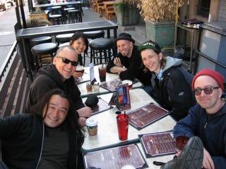 Tatsuya, Jeff, Janine Island, Laurie, Brad, David