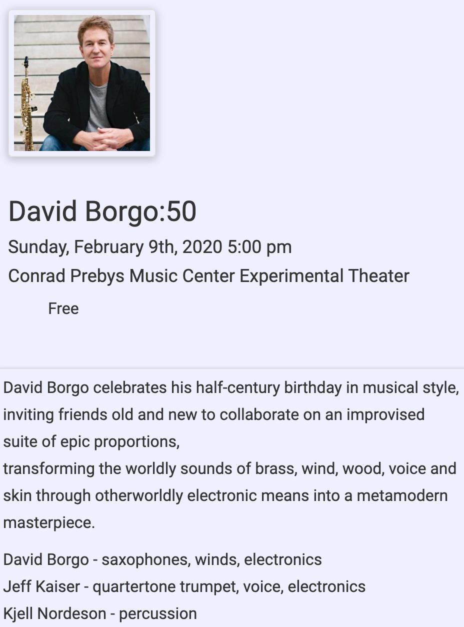 David Borgo: 50th Concert