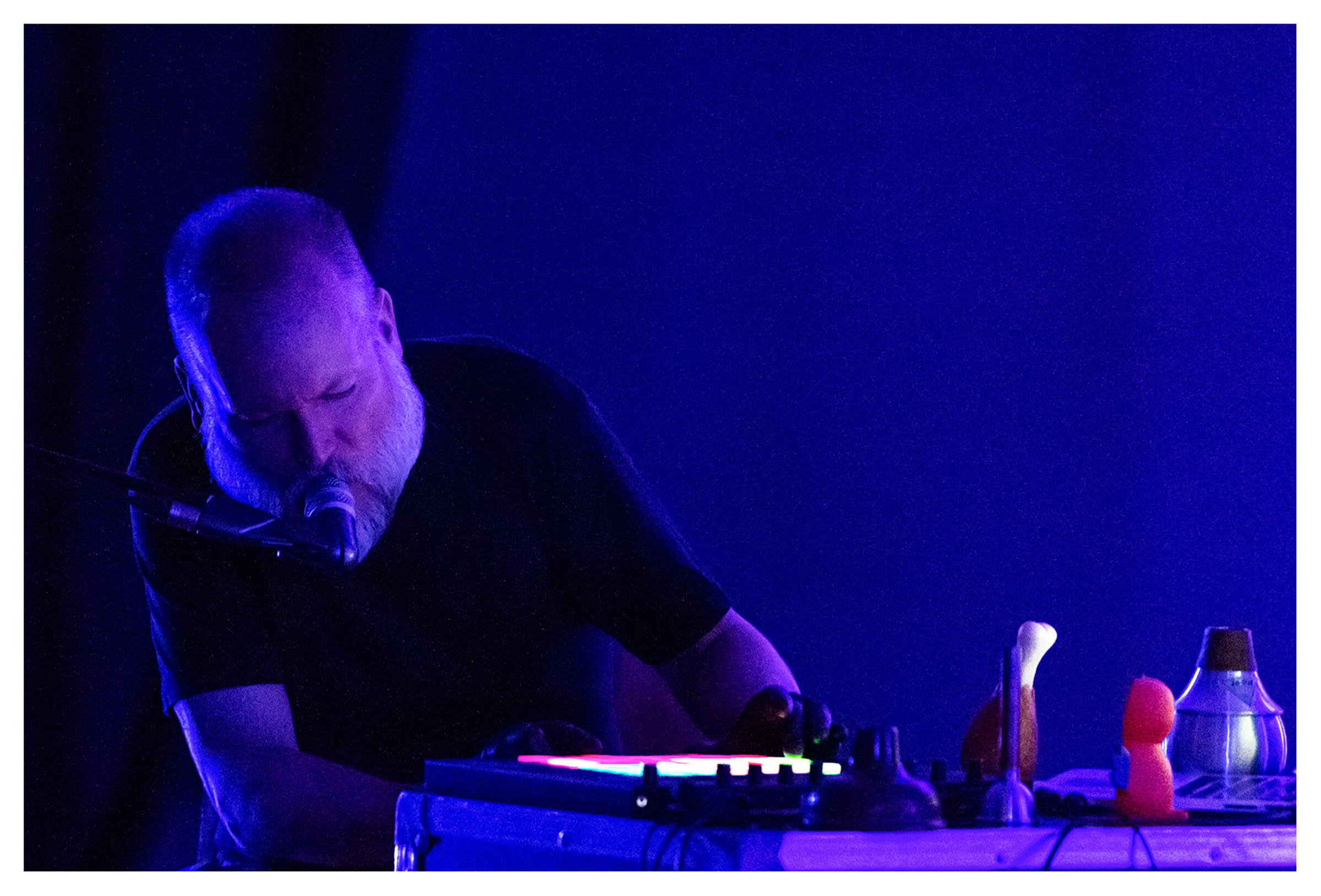 Jeff Kaiser at the Bernaola International Music Festival with The Forgetting Machine