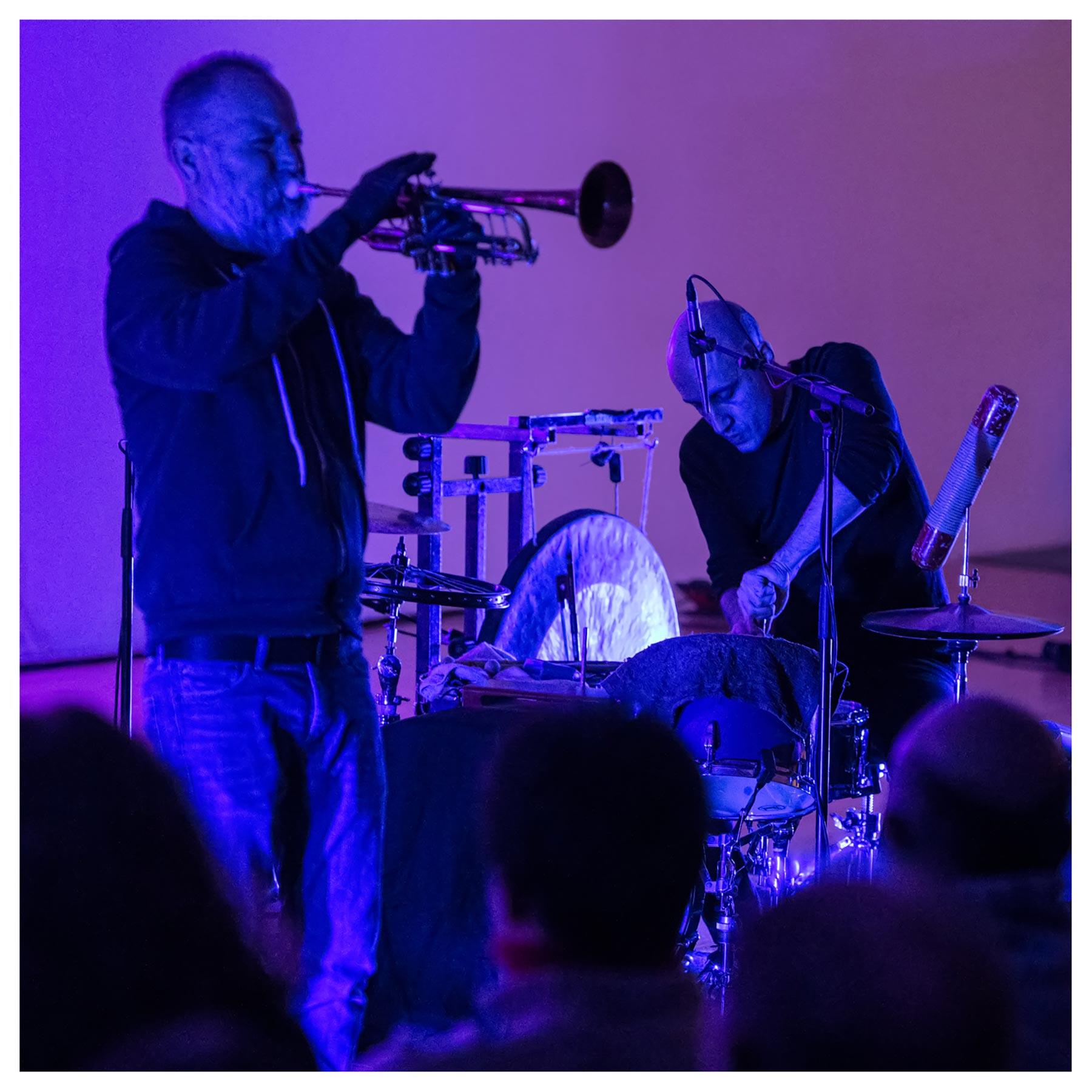The Forgetting Machine, Jeff Kaiser and Luis Tabuenca at the Bernaola Music Festival, Artium, Vitoria-Gasteiz, Spain