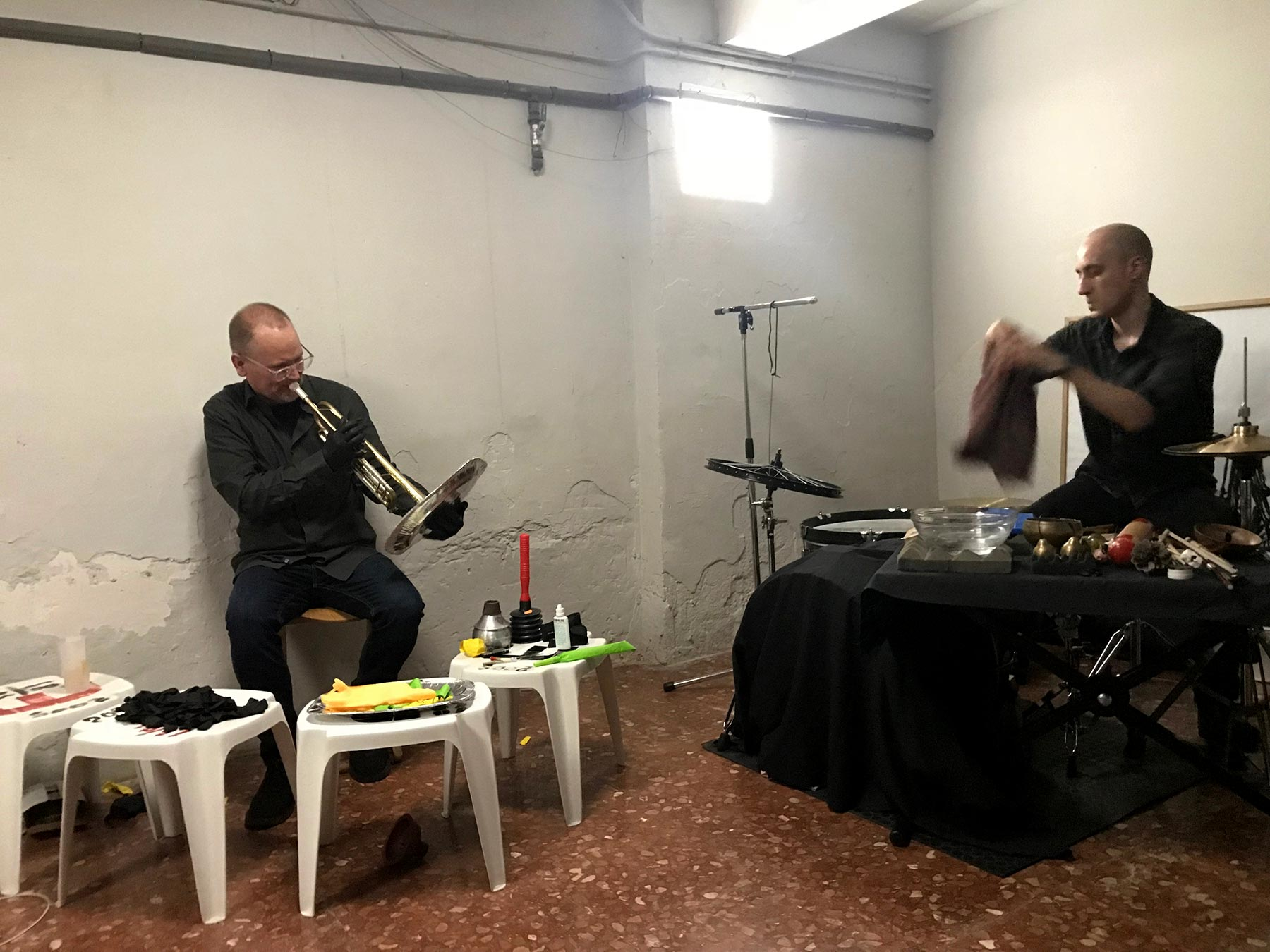 Jeff Kaiser and Luis Tabuenca at L'Ex Designer Project Bar, Barcelona, Spain