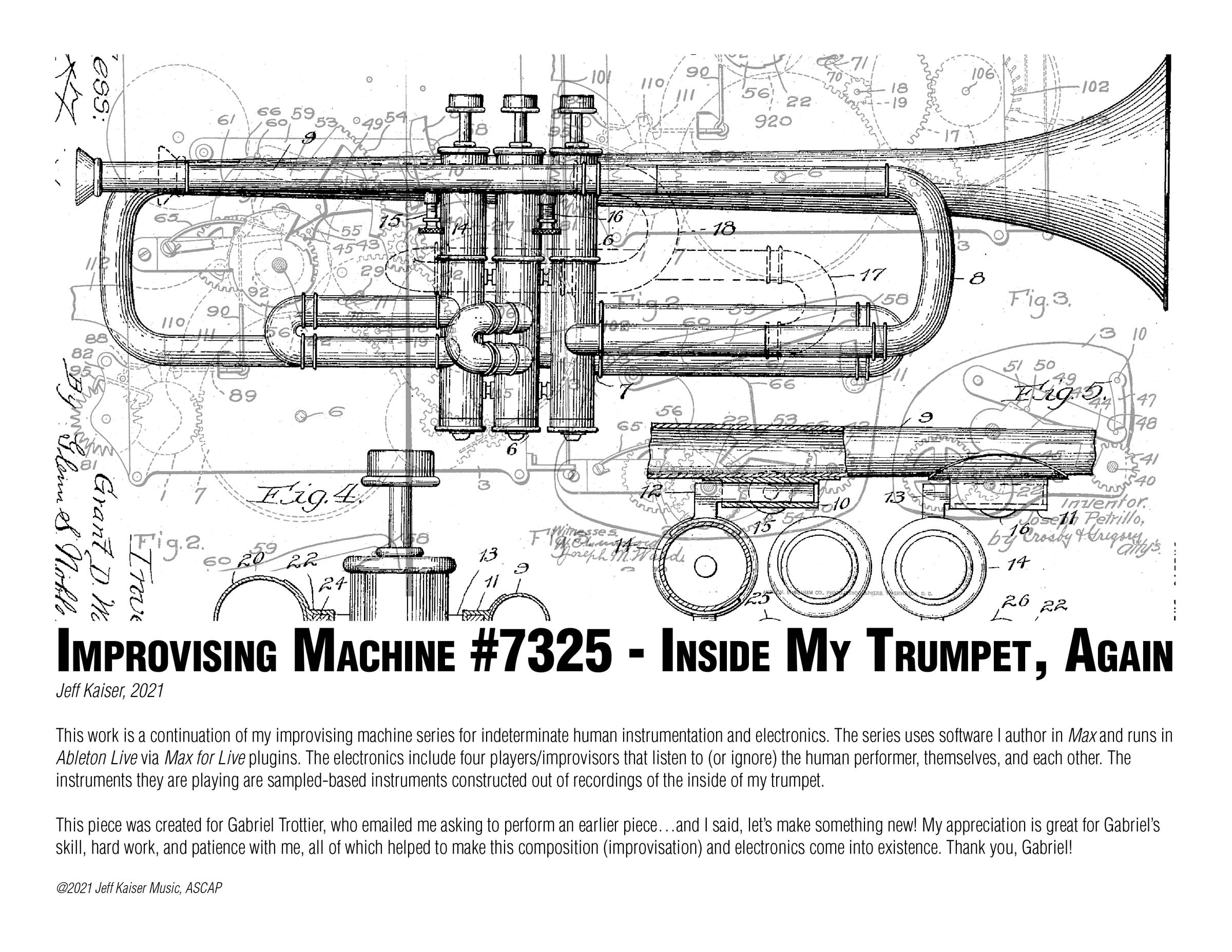 Improvising Machine #7325 - Inside My Trumpet, Again (Score)